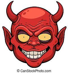 Devil face - illustration of Devil face