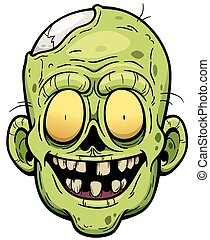 Zombie - illustration of Cartoon Zombie face