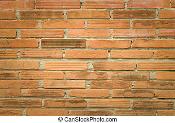 Red Brick wall texture background natural color