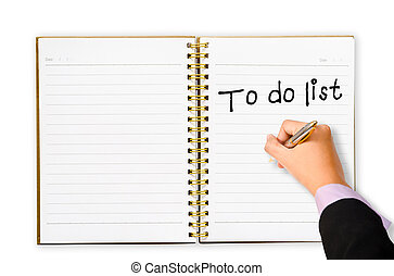 To do list for you marketing plan - Hand business man...
