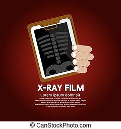 radiografía, Film.,
