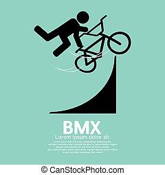 BMX Bicycle Sign. - BMX Bicycle Sign Vector Illustration.