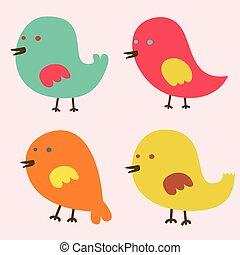 madarak, bájos, állhatatos