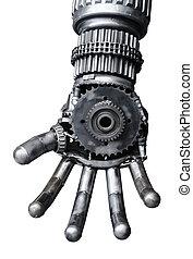Hand of Metallic cy-ber or robot. - Hand of Metallic cy-ber...