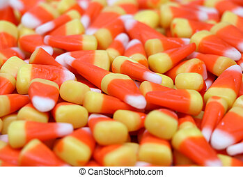 Candy Corn - A background of candy corn