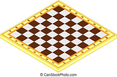 Checkerboard - Empty chessboard isolated on white, with...