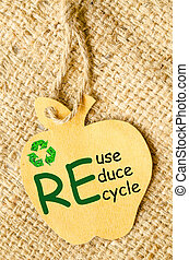 Recycle sign and Reduce, Reuse, Recycle - Recycle sign and...