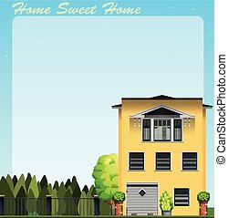 Home sweet home at daytime illustration