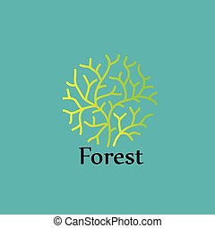 nature logo - nature  on background