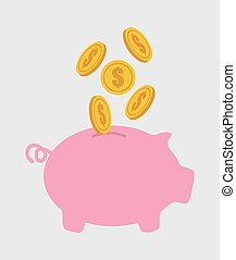 Saving money design, vector illustration eps10