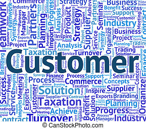 Customer Word Shows Shopper Purchaser And Buyer - Customer...