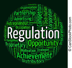 Regulation Word Means Text Dictum And Rule - Regulation Word...