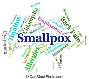 principal, palavra, doenças, meios,  variola,  smallpox