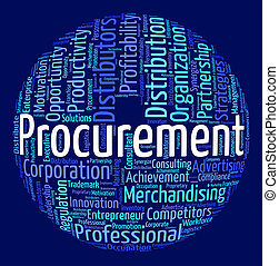 Procurement Word Means Procures Attainment And Procurements...