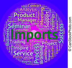 Imports Word Means Buy Abroad And Business - Imports Word...