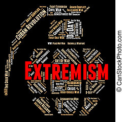 Extremism Word Represents Fundamentalism Wordclouds And Text...