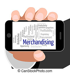 Merchandising Word Means Trading Wordcloud And Promotion -...