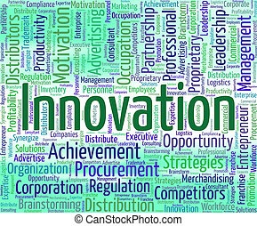 Innovation Word Represents Innovating Text And Modernization...