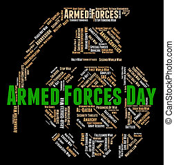 Armed Forces Day Represents Fighting Machine And Armament -...