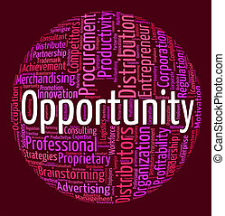 Opportunity Word Indicates Possibilities Opening And Words -...