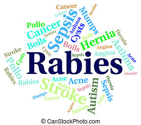 Rabies Word Means Ill Health And Afflictions - Rabies Word...