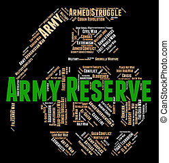 Army Reserve Means Military Service And Force - Army Reserve...