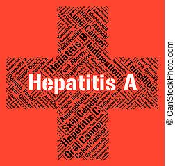 Hepatite, Um, indica, doente, saúde, e,...