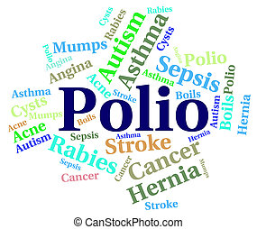 Polio Word Means Ill Health And Ailment - Polio Word...