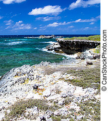 Atlantic ocean coastline Dominican Republic
