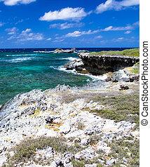 Atlantic ocean coastline. Dominican Republic