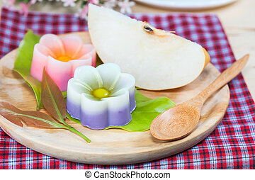Thailand tradition ,Flower Dessert Coconut Jelly