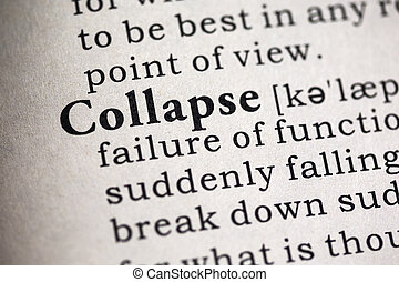 Collapse - Fake Dictionary, Dictionary definition of the...
