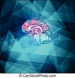 Human brain background - Human brain treatment abstract...