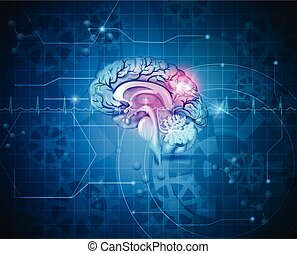Human brain abstract background - Human brain abstract light...