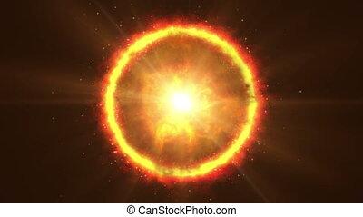 sun corona fire 4k