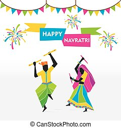 navratri festival celebration - happy navratri festival...
