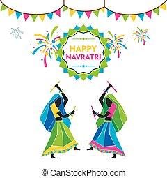 navratri festival design - celebrate navratri festival by...