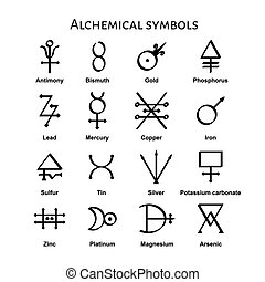Alchemical Symbols - Collection of various alchemical...
