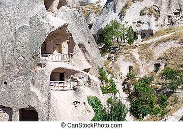Cappadocia - mountain landscape. Cappadocia, Anatolia,...