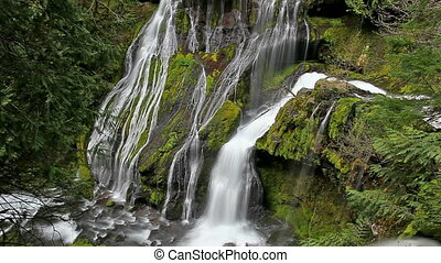Panther Creek Falls in WA State - High Definition Movie of...