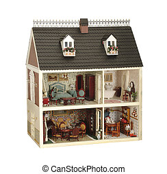 house of dolls - little handmade house of dolls with...