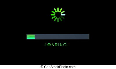 Loading Screen Bar Green - 0 to 100 green loading bar...