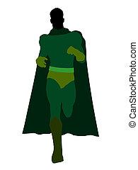 Male Super Hero Illustration Silhouette - Male super hero...