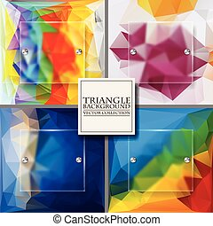 Multicolor Design Templates. Geometric Triangular Abstract Modern Vector Background.