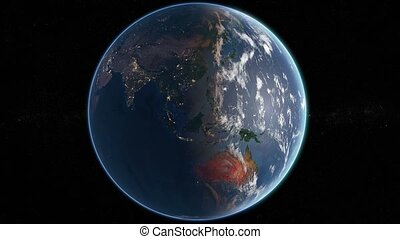 Rotating Earth - Day and Night - Slowly Rotating Earth 360...