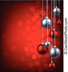 Christmas background. - Christmas red background with color...