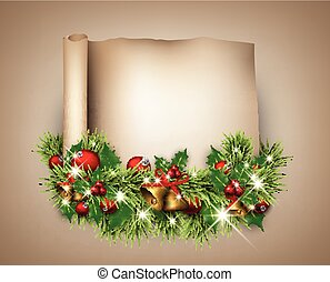 Christmas congratulatory background - Christmas...