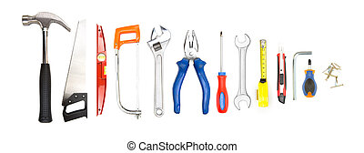 collection of tools on high definition - View of collection...