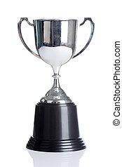 champions cup isolate on white background