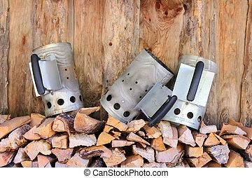 Chimney starters Charcoal chimney - 3 Chimney starters...